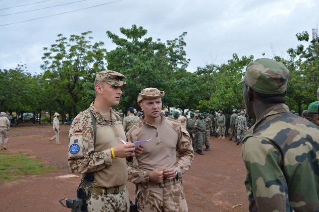 Czech-German cooperation in training of Malian soldiers serving in a heavy weapons platoon