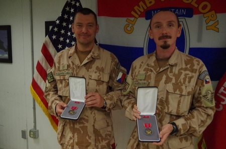 Commander and Chief Warrant Officer of the Czech 2nd Guard Company of the ISAF mission decorated with the fourth-highest U.S. military award