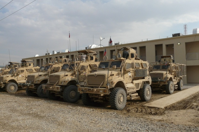 Equipment of 1st Guard Company at Bagram