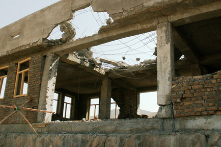 Building after attack of insurgents in July 2011 (3)