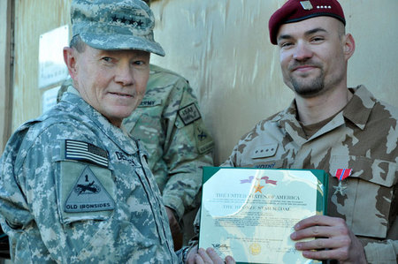 General Dempsey and Staff Sergeant Novotny