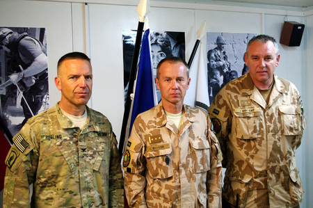 Colonel Rohling, US Task Force BAYONET commander, Colonel Genser and Colonel Kopecky