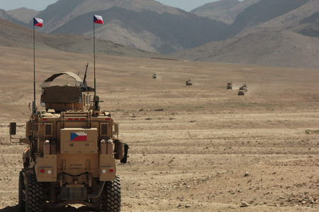Czech fire support in favour of the US detachment