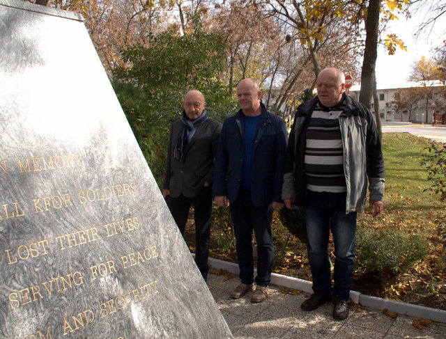 At the Memorial to the fallen Slovak soldiers in Kosovo