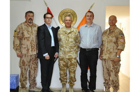 Czech visit to El-Gorah base 29 October 2012: GEN Opata, Czech Ambassador to Egypt Kafka, MFO Force Commander GEN Whiting, Czech Ambassador to Israel Pojar, and LTC Grmela