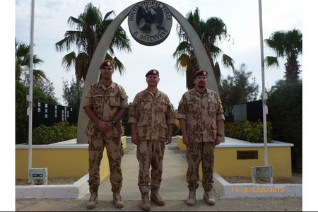 MAJ Stejskal, LTC Grmela and CPT Demel at the MFO memorial