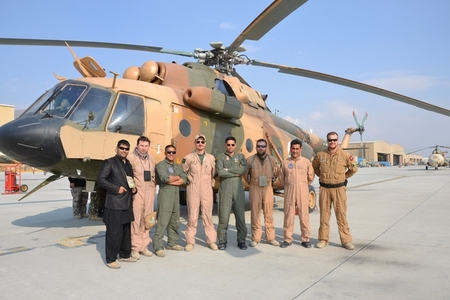 Afghan pilots and Czech AAT members - pilots Major Zdenek Z. and Captain Petr G., flying technician WO Petr K. and weapons operator WO Milan R.