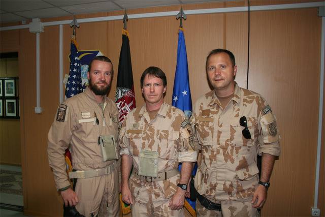 Captain Petr S., WO1st Bohuslav H., and his colleague