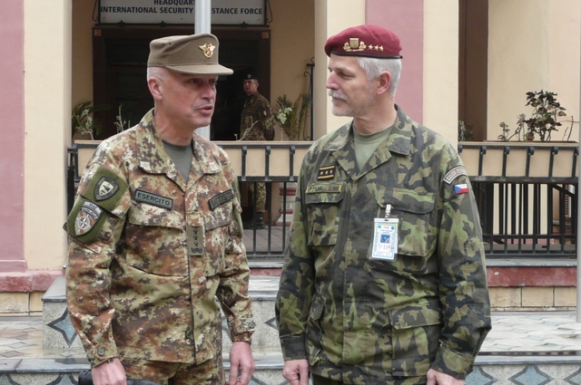 General Battista and General Pavel discussed also possible future position of allied forces in Afghanistan