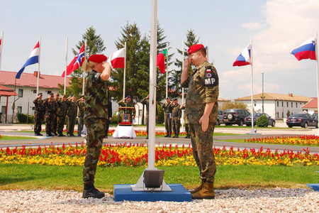 Czech flag raised at the Sarajevo EUFOR Headquarters