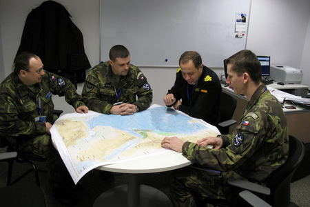 Meeting with Spanish Vice Admiral Bartolome Bauza