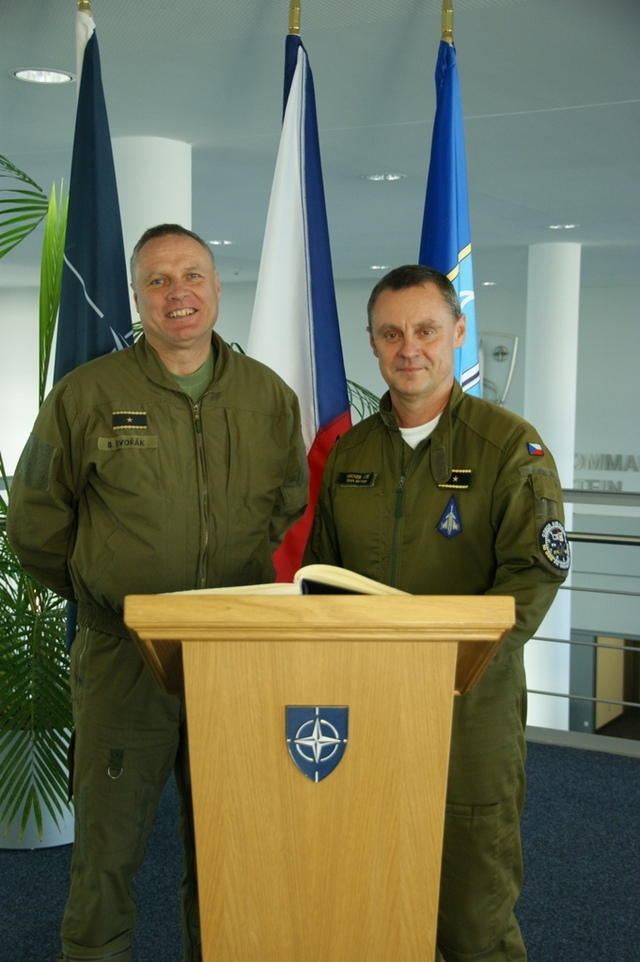Czech Air Chief Visits NATO Air Command Ramstein