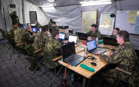 Czech CBRN Brigade HQ take part in ARRCADE FUSION 2014
