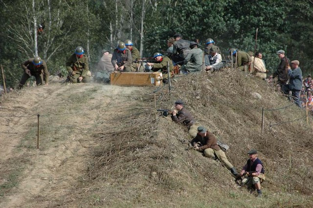 Combat demonstration devoted to the Slovak National Uprising 1