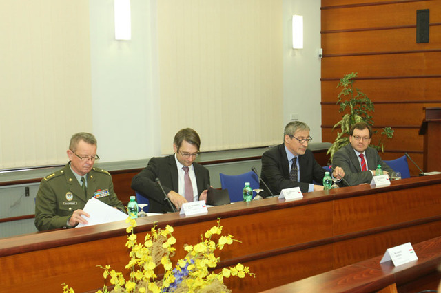 Czech delegation at the session led by Minister of Defence Martin Stropnicky