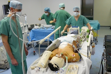 Life functions of the patient were stabilised during the operation