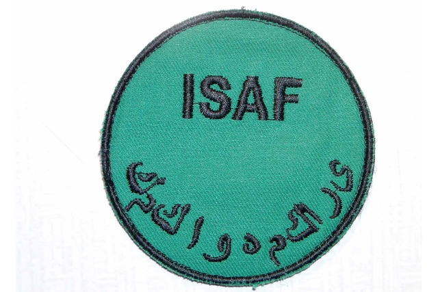 Sleeve badge of the ISAF operation which ends in December 2014