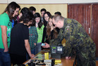 School children appreciate engaging manner Defence Educational Project is presented in class