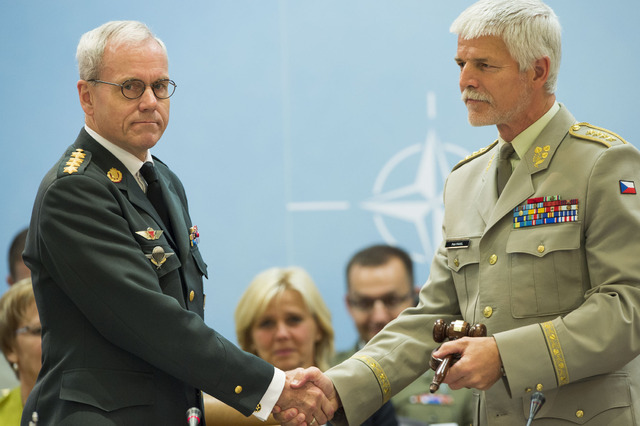General Petr Pavel received the NATO Military Committee  gavel