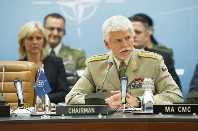 General Petr Pavel addressing the NATO Military Committee members