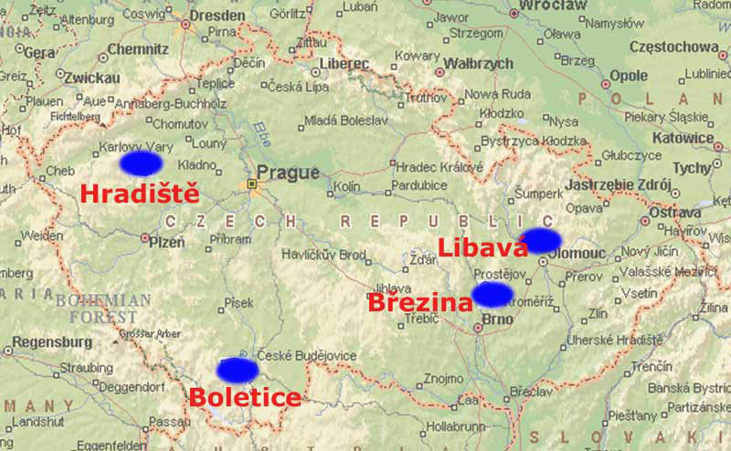 Military Training Areas in the Czech Republic