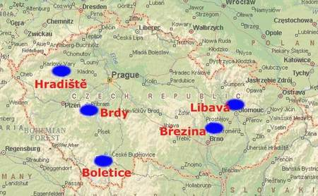Five Military Regions of the Czech Republic