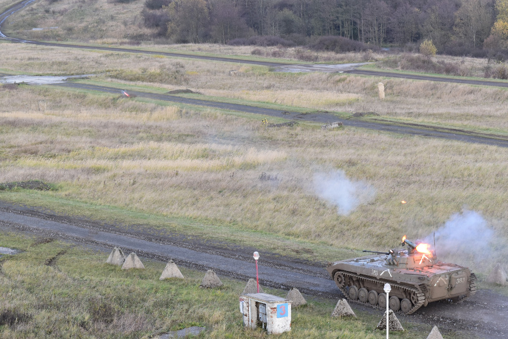 Live firing from BMP-2