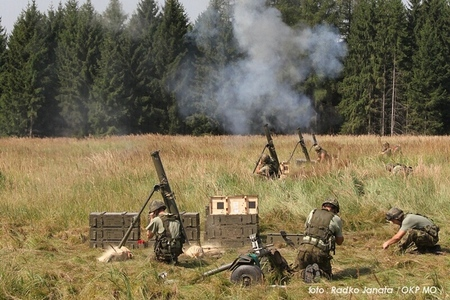 Mortars life fires at Military Region Brdy
