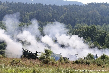 Artillery life fires at Military Region Brdy