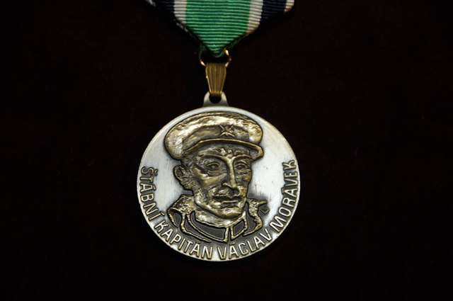 Commemorative Badge of Staff Captain Vaclav Moravek
