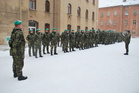 Personnel of chemical detachment for Czech NRF 2013 ready for inspection at Liberec (January 2013)