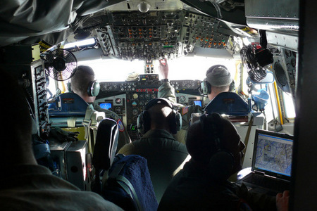 Cockpit of OC-135B