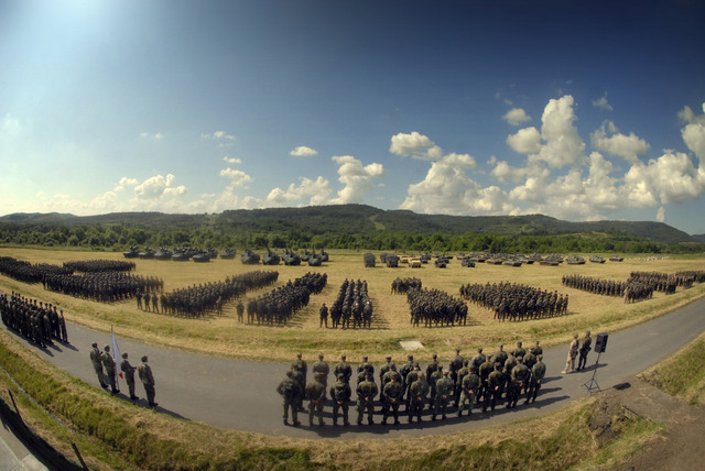 Line-up of participating units - opening ceremony of the exercise Strong Campaigner 2014 (2)