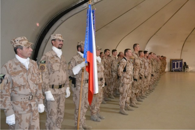 Personnel of both the 19th and 20th Air Advisory Team at the ceremony