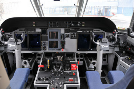 Cockpit of the aircraft