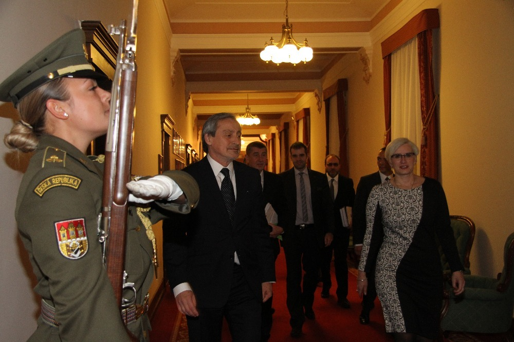 Minister Karla Slechtova heading for meeting with representatives of the Ministry and the Armed Forces