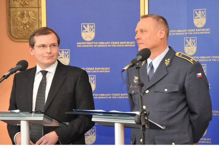 Deputy Defence Minister Jiri Sedivy and General Bohuslav Dvorak