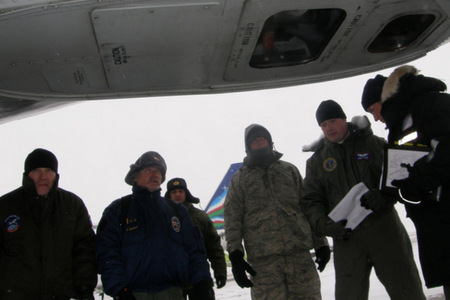 Inspection of the aircraft at Ulan-Ude, Russia