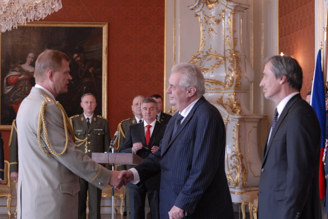 President Milos Zeman appointing General Josef Becvar the new Chief of the General Staff: Good luck and great success!
