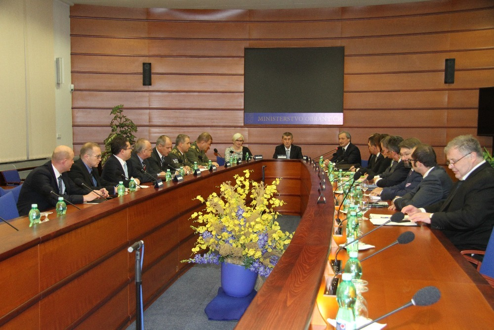 The first meeting of Minister Karla Slechtova with the Collegium of Minister of Defence
