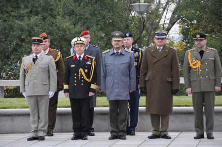 A part of Defence Attaches and Military and Air Attaches accredited to the Czech Republic who attended the ceremony at Prague´s Vitkov