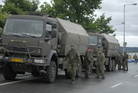 Soldiers of 4th Rapid Deployment Brigade deploying against floods on 2 June 2013