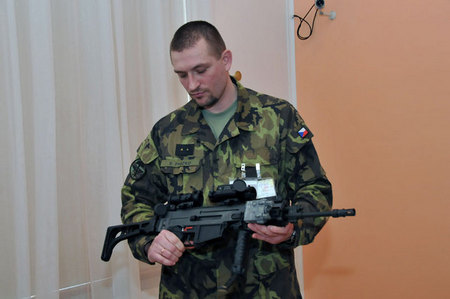 One of skilled soldiers, who have tested the new weapon