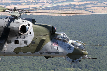 Czech Mil Mi-24V helicopters attract well deserved attention at Italian Blade 2015 exercise