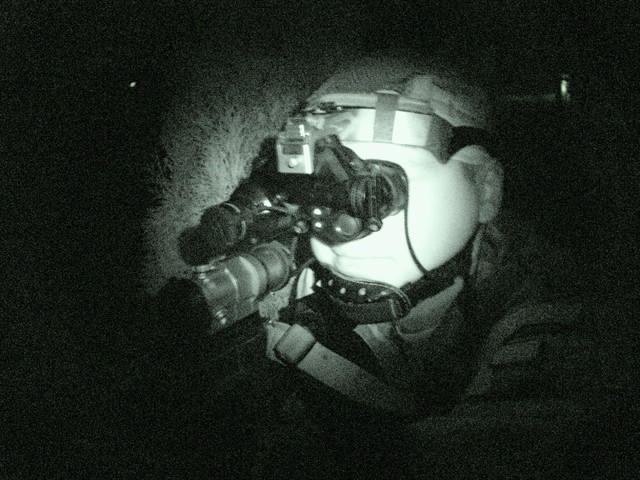 Training with night vision instruments