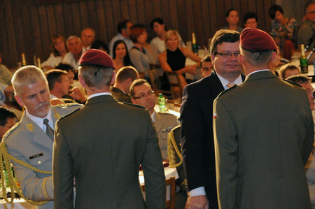 Family members of soldiers attended the welcome and awarding ceremony