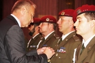 Minister decorates soldiers