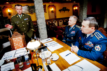 1st Deputy Chief of Czech GS General Miroslav Zizka presents participation of Czech soldiers in international structures