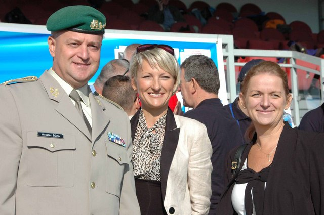 Major General Miroslav Zizka, Katerina Bartosova from the Cabinet of Minister of Defence, and Deputy Defence Minister for Personnel Lenka Ptackova Melicharova at the opening ceremony