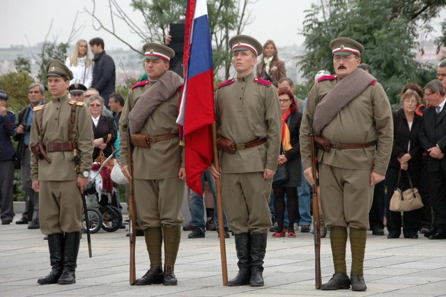 The ceremony at the National Monument in Prague - Vitkov (1)